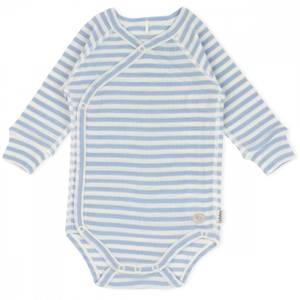Bilde av LL Wrap ullbody mini lyseblå striper